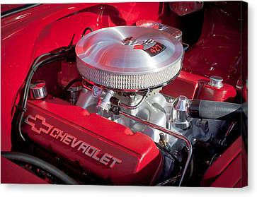 1955 Chevrolet 210 Engine Canvas Print by Jill Reger