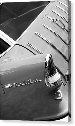 1955 Chevrolet Nomad Wagon Taillight Emblem Canvas Print by Jill Reger