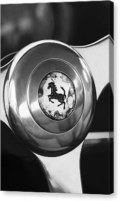 Europa Canvas Print - 1955 Ferrari 250 Europa Gt Pinin Farina Berlinetta Steering Wheel Emblem by Jill Reger