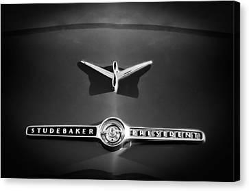 1955 Studebaker President Emblem Canvas Print