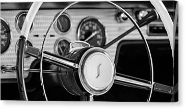 1955 Studebaker President Steering Wheel Emblem Canvas Print