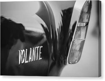 1956 Aston Martin Short Chassis Volante Taillight Emblem Canvas Print by Jill Reger