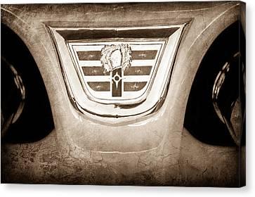1956 Dodge 2 Door Wagon Emblem Canvas Print by Jill Reger