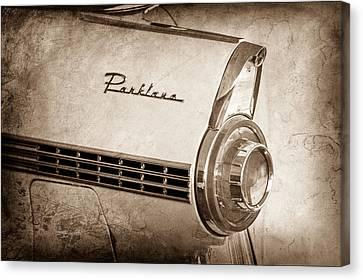1956 Ford Parklane Wagon Taillight Emblem Canvas Print