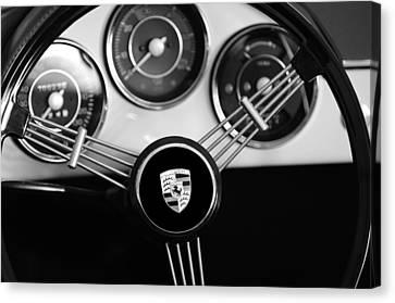 1956 Porsche Steering Wheel Emblem Canvas Print by Jill Reger