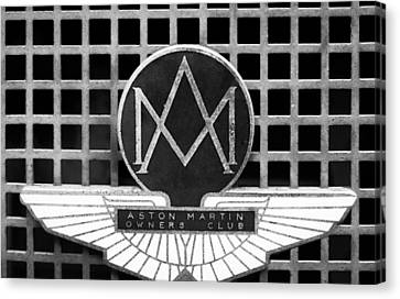 1957 Aston Martin Owner's Club Emblem Canvas Print by Jill Reger