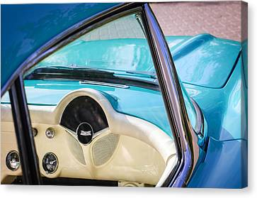 1957 Chevrolet Corvette Dashboard Canvas Print by Jill Reger