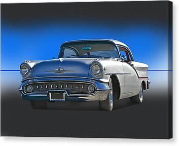 1957 Custom Oldsmobile Canvas Print by Dave Koontz