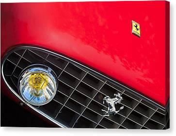 1957 Ferrari 410 Superamerica Series II Grille Emblem Canvas Print by Jill Reger