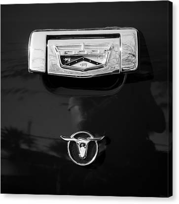 1957 Ford Custom 300 Series Ranchero Emblem Canvas Print by Jill Reger