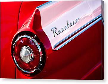1957 Ford Custom 300 Series Ranchero Taillight Emblem Canvas Print by Jill Reger