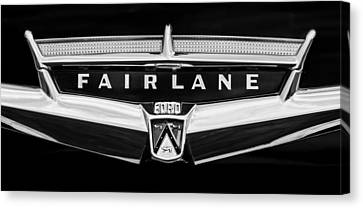 1957 Ford Fairlane Convertible Emblem Canvas Print by Jill Reger
