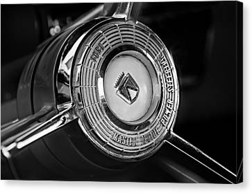 1957 Ford Fairlane Convertible Steering Wheel Emblem Canvas Print by Jill Reger