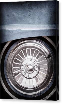 1957 Ford Fairlane Wheel Emblem Canvas Print by Jill Reger