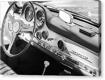 1957 Mercedes-benz 300 Sl Gullwing Steering Wheel Emblem Canvas Print