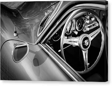 1957 Porsche Steering Wheel Canvas Print by Jill Reger