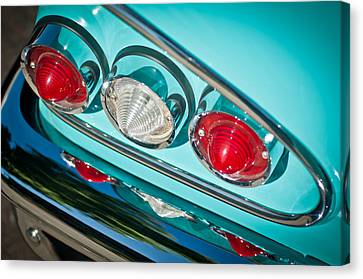 1958 Chevrolet Impala Taillight -0289c Canvas Print by Jill Reger