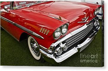 1958 Chevy Impala Canvas Print by Linda Bianic