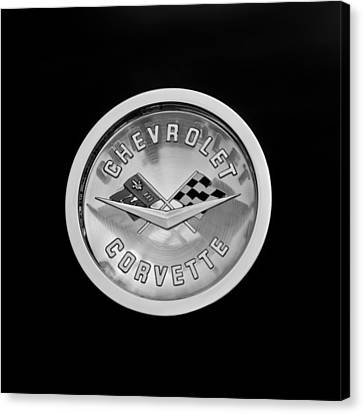 1960 Chevrolet Corvette Roadster Emblem Canvas Print by Jill Reger
