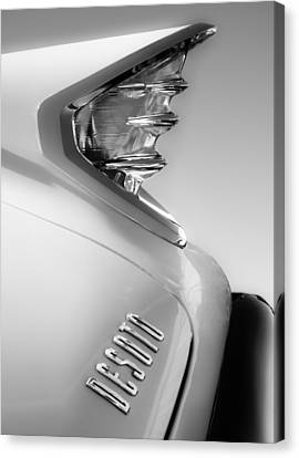 1960 Desoto Fireflite Two-door Hardtop Taillight Emblem Canvas Print by Jill Reger