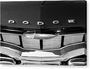 1960 Dodge Grille Emblem Canvas Print by Jill Reger