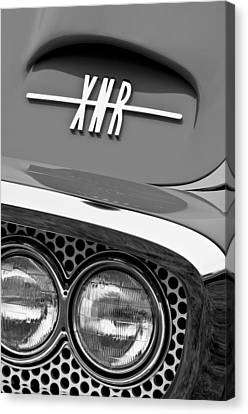 1960 Plymouth Xnr Ghia Roadster Grille Emblem Canvas Print by Jill Reger