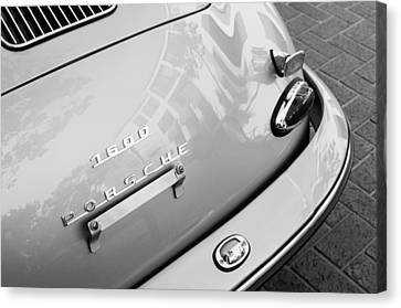 1960 Porsche 356 B 1600 Super Roadster Rear Emblem - Taillight Canvas Print by Jill Reger