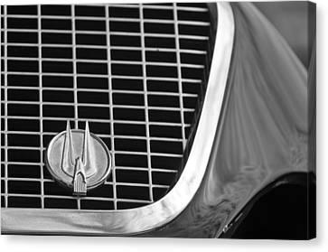 1960 Studebaker Hawk Grille Emblem Canvas Print by Jill Reger
