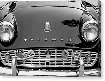 1960 Triumph Tr 3 Grille Emblems Canvas Print by Jill Reger