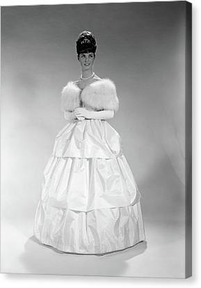 Ball Gown Canvas Print - 1960s Pretty Young Woman Wearing Tiara by Vintage Images