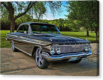 Canvas Print featuring the photograph 1961 Chevrolet Impala by Tim McCullough