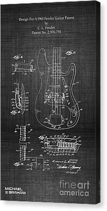 1961 Fender Guitar Canvas Print