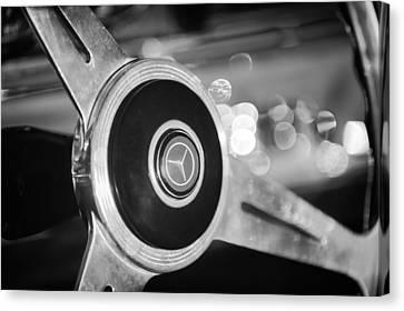 1961 Mercedes Benz 300sl Roadster Steering Wheel Emblem Canvas Print