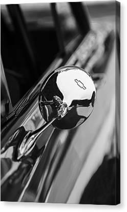 1963 Chevrolet Nova Rear View Mirror Emblem Canvas Print by Jill Reger