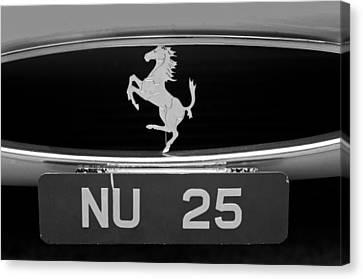1963 Ferrari 250 Gto Scaglietti Berlinetta Grille Emblem Canvas Print by Jill Reger