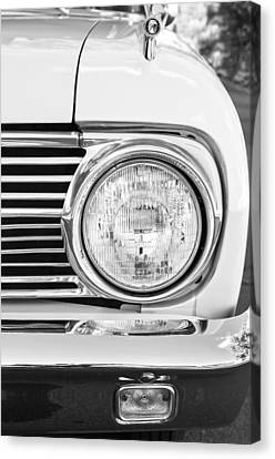 1963 Ford Falcon Futura Convertible Headlight - Hood Ornament Canvas Print