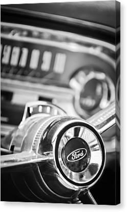 1963 Ford Falcon Futura Convertible Steering Wheel Emblem Canvas Print