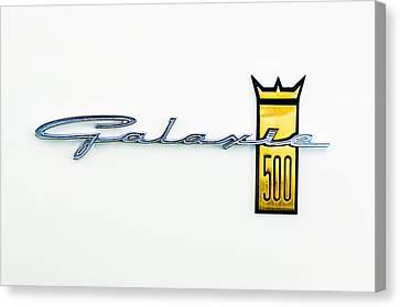 1963 Ford Galaxie 500 R-code Factory Lightweight Emblem Canvas Print