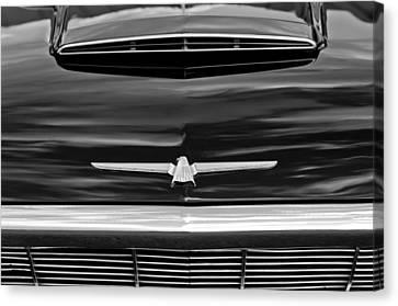1964 Ford Thunderbird Hood Emblem Canvas Print by Jill Reger