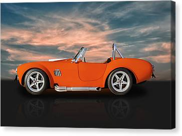 American Open-wheel Racing Canvas Print - 1965 Shelby Cobra Replica by Frank J Benz