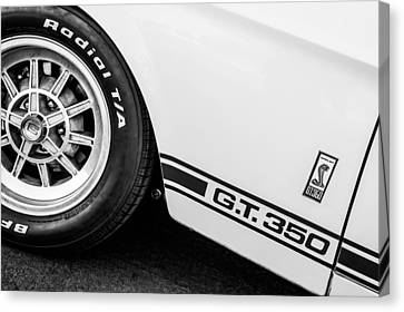 1965 Shelby Gt350 Side Emblem Canvas Print by Jill Reger
