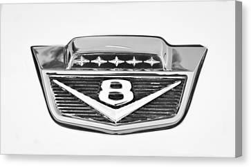 1966 Ford F100 Pickup Truck Emblem Canvas Print by Jill Reger