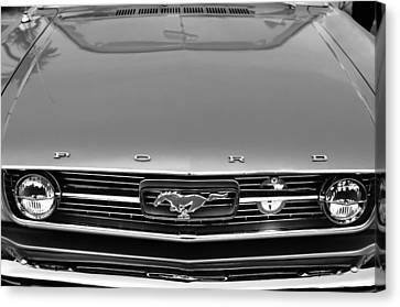 1966 Ford Mustang Front End Canvas Print by Jill Reger