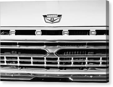 1966 Ford Pickup Truck Grille Emblem Canvas Print by Jill Reger