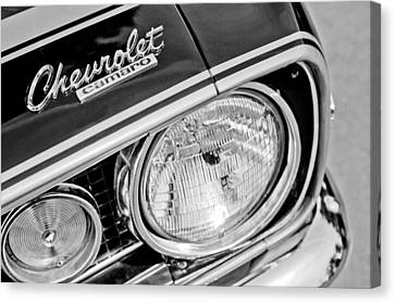 1967 Chevrolet Camaro Ss Head Light Emblem Canvas Print by Jill Reger