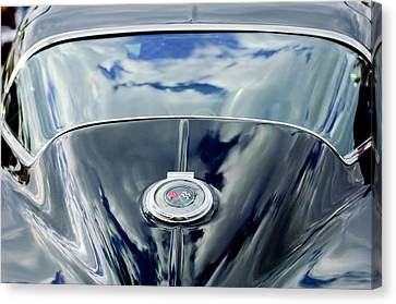 1967 Chevrolet Corvette Rear Emblem Canvas Print by Jill Reger