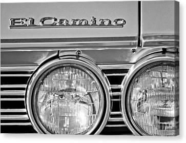 1967 Chevrolet El Camino Pickup Truck Headlight Emblem Canvas Print by Jill Reger