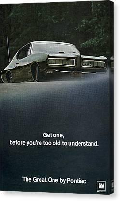 1968 Pontiac Gto Canvas Print