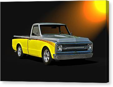 1969 Chevrolet C10 Pick Up Canvas Print by Dave Koontz