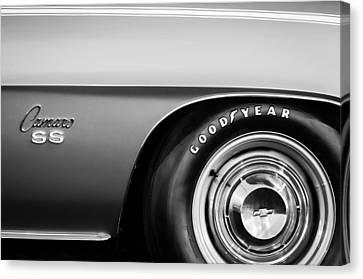 1969 Chevrolet Camaro 396 Rs Ss L89 Side Emblem Canvas Print by Jill Reger